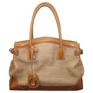 CECE-CORD CANVAS AND LEATHER TRIM BAG